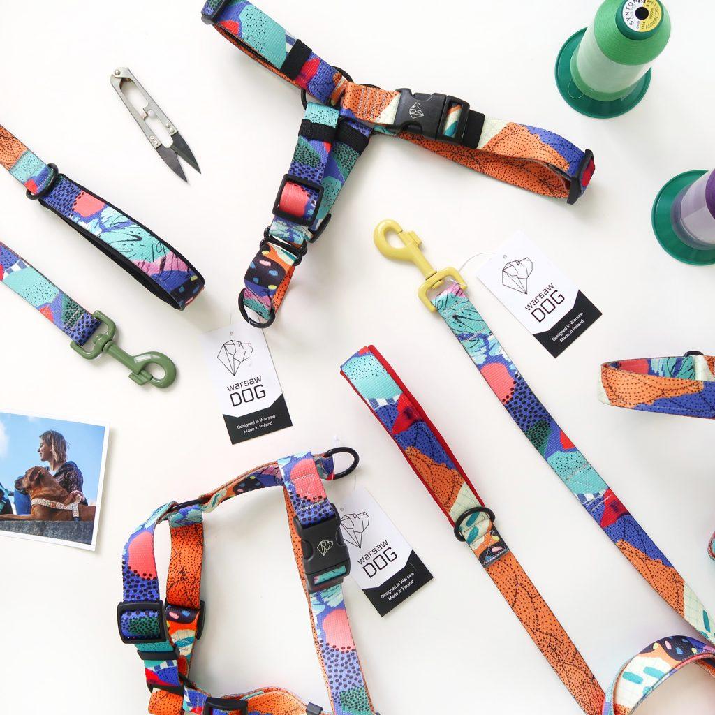 modny zestaw szelki smycz dla psa doggo artisto