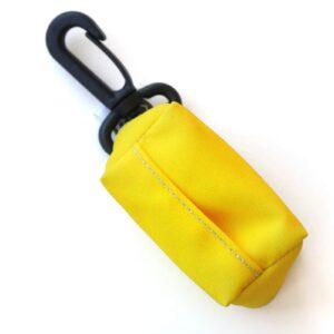 Kupownik, torebka na woreczki do sprzątania po psie, Zółty