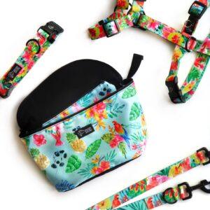 Nerka spacerowa Tropical - torba na biodro, saszetka na biodro, na spacer z psem