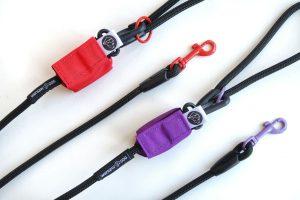 smycz linowa dla psa czarna z kolorem